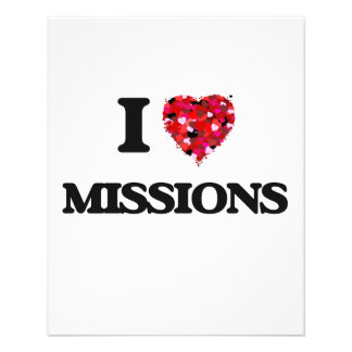 """I Love Missions 4.5"""" X 5.6"""" Flyer"""