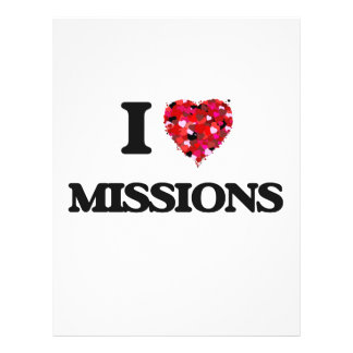 """I Love Missions 8.5"""" X 11"""" Flyer"""