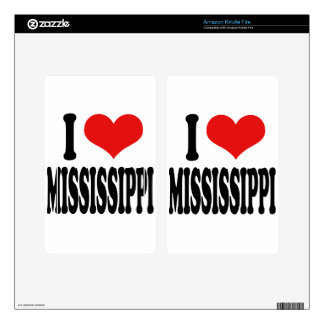 I Love Mississippi Decal For Kindle Fire