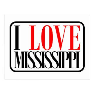 I Love Mississippi Design Postcard