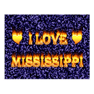 I love mississippi fire and flames postcard