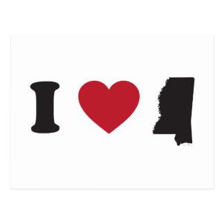 I Love Mississippi Postcard