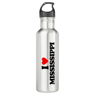 I LOVE MISSISSIPPI WATER BOTTLE