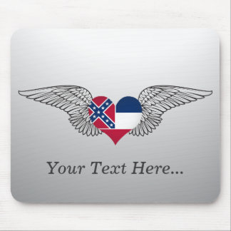 I Love Mississippi -wings Mouse Pads