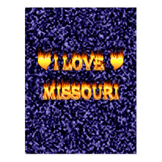 I love missouri fire and flames postcard