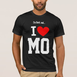 I Love Missouri or any State Red Heart T-Shirt
