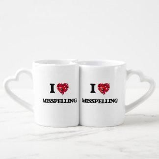I Love Misspelling Couples' Coffee Mug Set