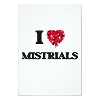 I Love Mistrials 3.5x5 Paper Invitation Card