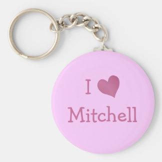 I Love Mitchell Keychain