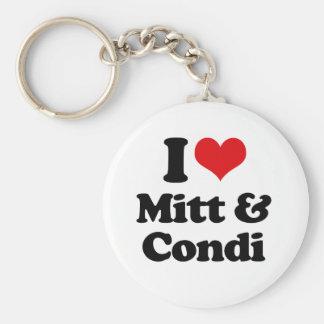 I LOVE MITT AND CONDI png Keychain