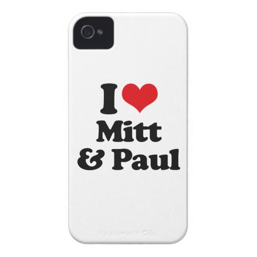 I LOVE MITT AND PAUL.png Blackberry Bold Cases