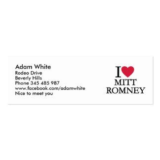I love Mitt Romney Business Card Template