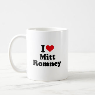 I LOVE MITT ROMNEY CLASSIC WHITE COFFEE MUG