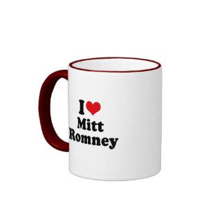 I LOVE MITT ROMNEY RINGER COFFEE MUG
