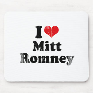 I LOVE MITT ROMNEY png Mouse Pads