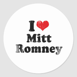 I LOVE MITT ROMNEY png Stickers