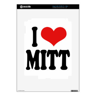 I Love Mitt Skins For iPad 2
