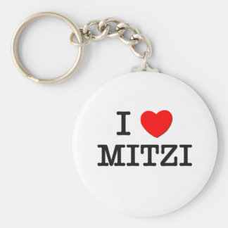 I Love Mitzi Keychain