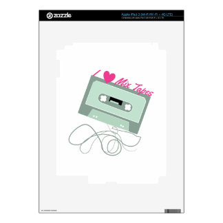 I Love Mix Tapes Skin For iPad 3