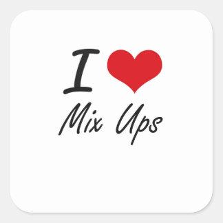 I Love Mix Ups Square Sticker