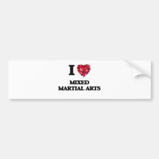 I Love Mixed Martial Arts Car Bumper Sticker