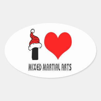 I Love Mixed Martial Arts Design Sticker