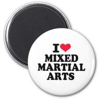 I love Mixed Martial Arts Fridge Magnets