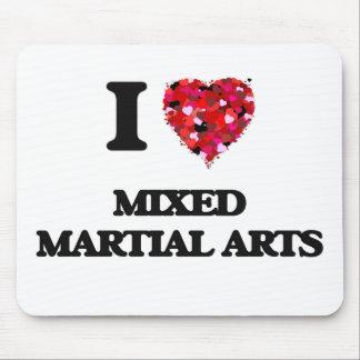 I Love Mixed Martial Arts Mouse Pad