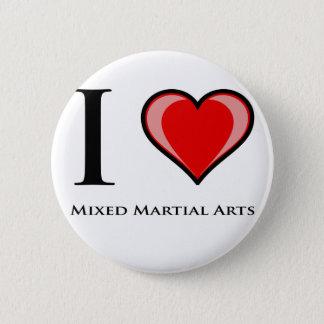 I Love Mixed Martial Arts Pinback Button