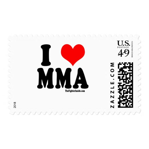 I Love MMA Stamps
