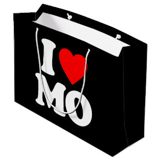 I LOVE MO LARGE GIFT BAG