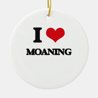 I Love Moaning Double-Sided Ceramic Round Christmas Ornament