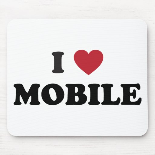 I Love Mobile Alabama Mouse Pad