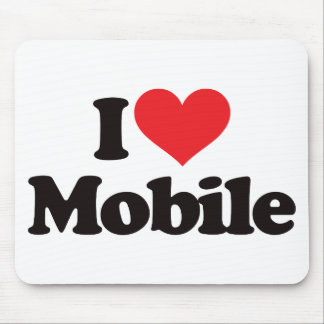 I Love Mobile Mouse Pad