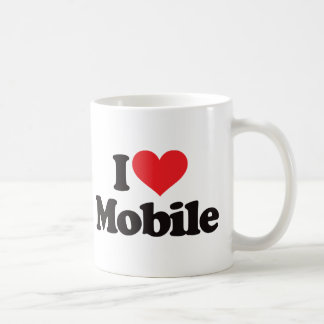 I Love Mobile Coffee Mug