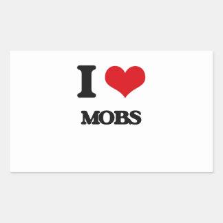 I Love Mobs Rectangle Sticker