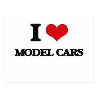 I Love Model Cars Post Cards