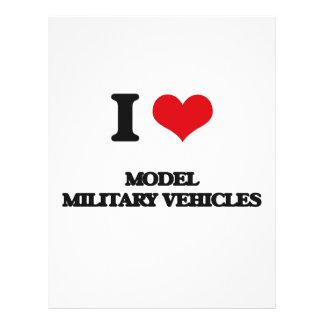 I Love Model Military Vehicles Custom Flyer