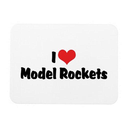 I Love Model Rockets Vinyl Magnets