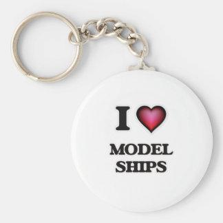 I Love Model Ships Keychain