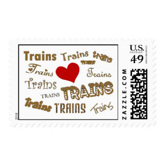 I Love Model Trains Postage