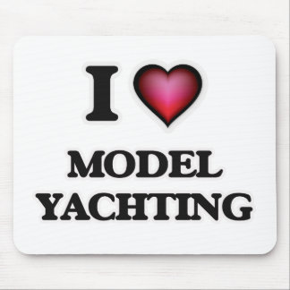 I Love Model Yachting Mouse Pad