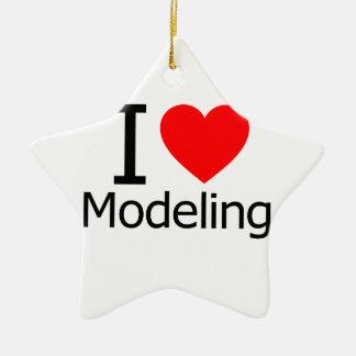 I Love Modeling Ceramic Ornament
