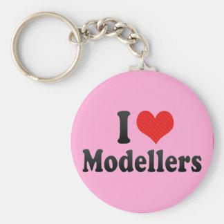 I Love Modellers Basic Round Button Keychain