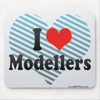 I Love Modellers Mouse Pad