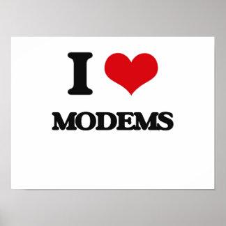 I Love Modems Poster