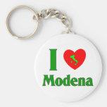 I Love Modena Italy Basic Round Button Keychain