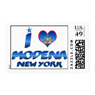 I love Modena, New York Postage Stamps