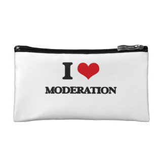 I Love Moderation Cosmetic Bags