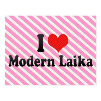 I Love Modern Laika Postcard
